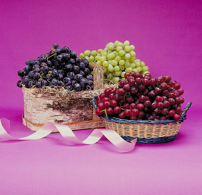 Version E. What background is most suitable to all three colors of grape?