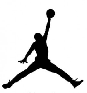 The Jumpman logo.